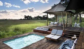 live in the wild at duba plains camp in the heart of