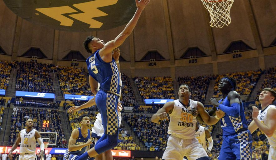 How To Watch Kentucky Basketball At West Virginia Game: Kentucky Forward Kevin Knox Attempts A Layup Over West