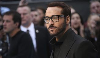 """FILE - In this Tuesday, June 9, 2015 file photo, Jeremy Piven poses for photographers at the premiere of the film """"Entourage,"""" in London. An online news site says Piven is facing more sexual misconduct accusations. He previously denied allegations by at least three other women. BuzzFeed News reported Saturday, Jan. 27, 2018, that the latest accusations date back decades and involve three women who claim Piven acted in a physically aggressive or threatening manner.  (Photo by Joel Ryan/Invision/AP, File)"""