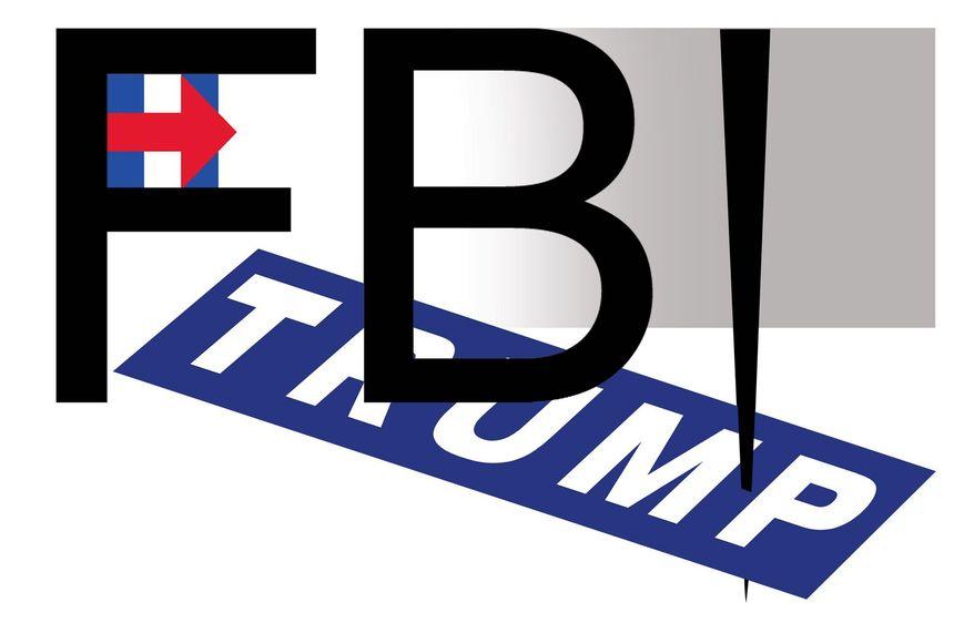 Illustration on FBI animus towards Donald Trump by Alexander Hunter/The Washington Times