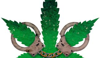 Marijuana Arrest Illustration by Greg Groesch/The Washington Times