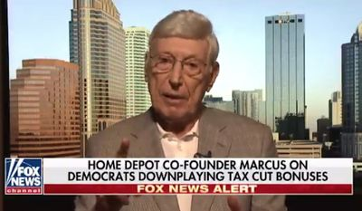 Home Depot co-founder Bernie Marcus on Jan. 28, 2018. (Fox News) ** FILE **