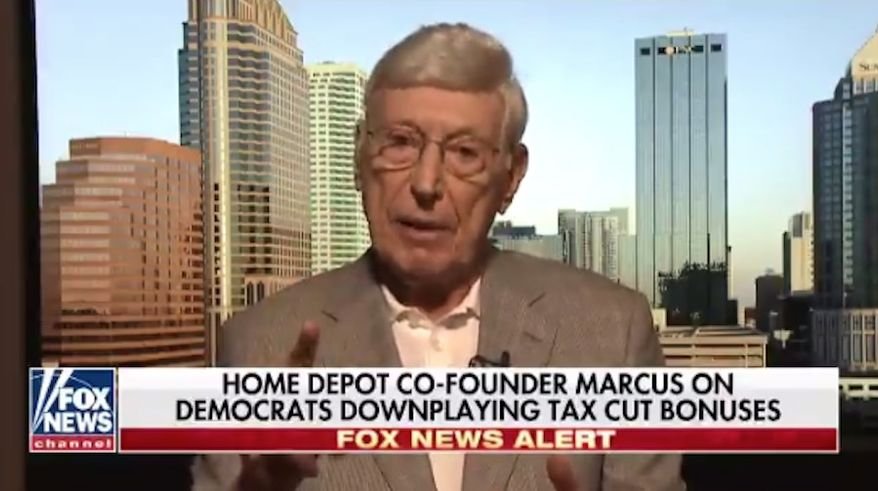 Home Depot co-founder Bernie Marcus on Jan. 28, 2018. (Fox News) ** FILE **