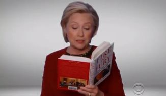 "U.S. Ambassador to the United Nations Nikki Haley said Hillary Clinton ""ruined"" the Grammy Awards Sunday night after she made a surprise cameo reading from Michael Wolff's hotly contested Trump-bashing book ""Fire and Fury."" (CBS)"