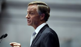 Tennessee Gov. Bill Haslam gives his annual State of the State address to a joint convention of the Tennessee General Assembly Monday, Jan. 29, 2018, in Nashville, Tenn. (AP Photo/Mark Zaleski) ** FILE **
