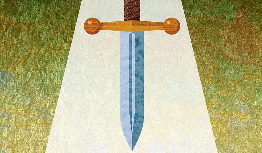 Sword Hanging Over the FBI Illustration by Greg Groesch/The Washington Times