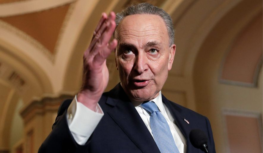 """In an op-ed piece, Senate Minority Leader Charles E. Schumer called for """"major, direct federal investment in infrastructure."""" He is skeptical about President Trump's plan. (Associated Press)"""