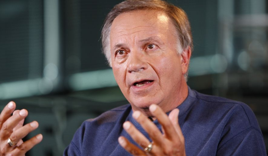 FILE - In this July 23, 2010, file photo, former Colorado Rep. Tom Tancredo speaks in Denver.  In an election year already notable for anti-establishment fervor and spoiler candidates, nothing beats Colorado's political circus. (AP Photo/Ed Andrieski, File)