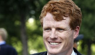 Rep. Joe Kennedy, D-Mass., smiles on Capitol Hill in Washington, Wednesday, July 26, 2017. (AP Photo/Jacquelyn Martin)
