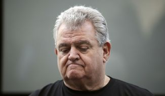 U.S. Rep. Bob Brady of Philadelphia pauses as he speaks during a news conference Wednesday, Jan. 31, 2018, in Philadelphia. Brady will not seek another term in Congress, giving up the seat he's held for two decades, his office said Wednesday. (AP Photo/Matt Rourke)