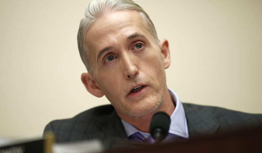 House Judiciary Committee member Rep. Trey Gowdy, R-S.C., speaks during a House Judiciary hearing on Capitol Hill in Washington, Dec. 7, 2017. (AP Photo/Carolyn Kaster) ** FILE **