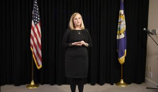 Nashville Mayor Megan Barry speaks during a news conference at the Metro Courthouse in Nashville, Tenn., Wednesday, Jan. 31, 2018. Barry revealed Wednesday that she had an extramarital affair with the former head of her security detail, apologizing and indicating she plans to continue serving in office. (George Walker IV/The Tennessean via AP)