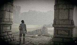A stylish screenshot created using the new photo editor in the Shadow of the Colossus video game.