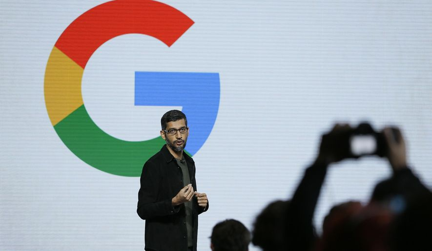 In this Tuesday, Oct. 4, 2016, file photo, Google CEO Sundar Pichai speaks during a product event in San Francisco. Pichai has declared artificial intelligence more important to humanity than fire or electricity. And yet the search giant is increasingly having to deal with messy people problems: from the need for human checkers to catch rogue YouTube posters and Russian bots to its efforts to house its burgeoning workforce in pricey Silicon Valley. (AP Photo/Eric Risberg, File)