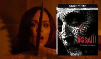 "A grain silo trap tortures a potential victim in ""Jigsaw"" now available on 4K Ultra HD from Lionsgate Home Entertainment."