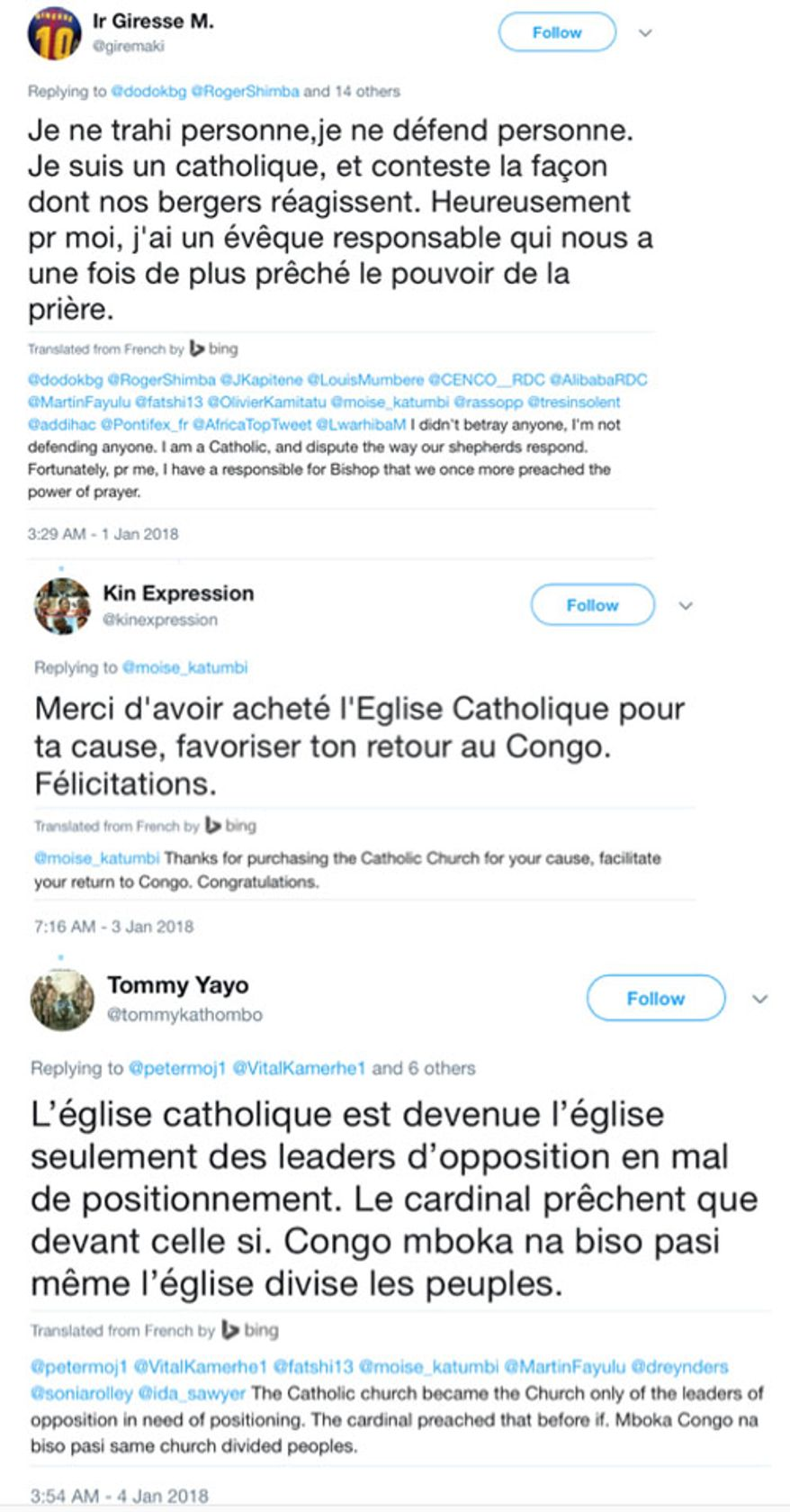 Moise Katumbi and the Catholic Church in the Congo: The World is Watching (sponsored third photo)
