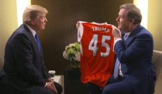 Piers Morgan interviews President Trump in Davos, Switzerland. (ITV)