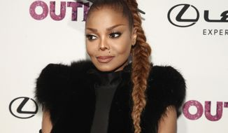 FILE - In this Nov. 9, 2017, file photo, Janet Jackson attends the 22nd Annual OUT100 Celebration Gala at the Altman Building in New York. Jackson wants to make it crystal clear: She will not be joining Justin Timberlake during the Super Bowl halftime show Sunday, Feb. 4, 2018. (Photo by Andy Kropa/Invision/AP, File)