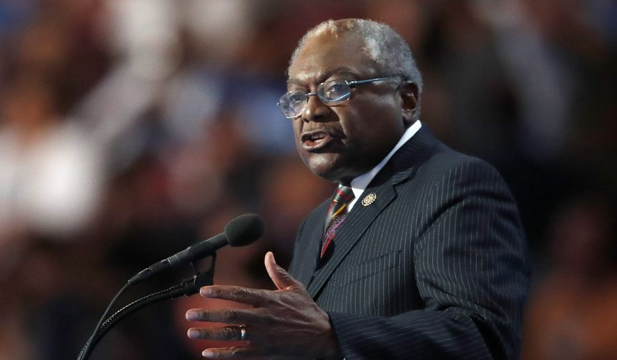 Rep. James B. Clyburn, South Carolina Democrat, inserted one of thousands of earmarks in the 2010 spending bill, but the money intended for a library in his district was misdirected to California. (Associated Press/File)
