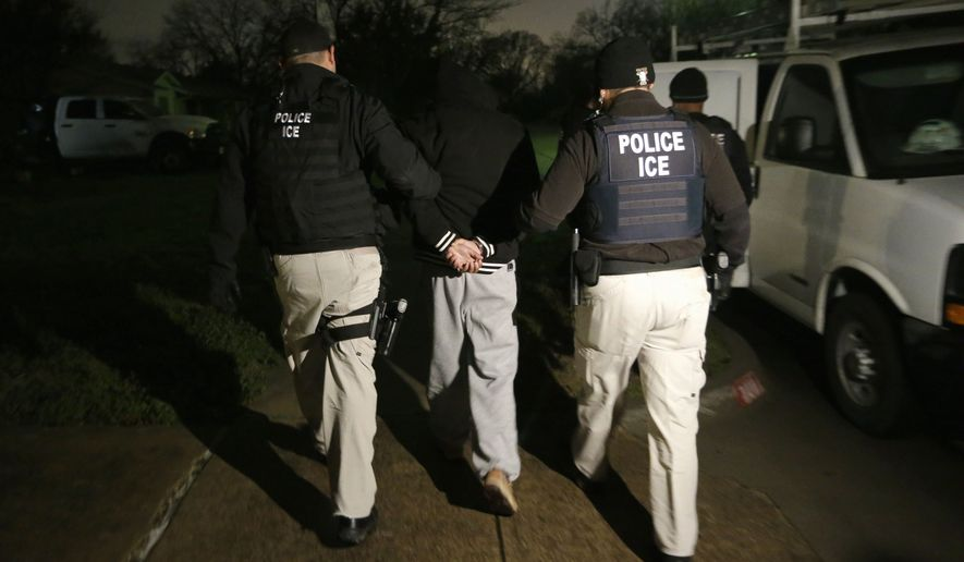 The national council that represents 7,500 employees at U.S. Immigration and Customs Enforcement is not withdrawing its support from President Trump, but a letter sent to the White House on Friday says the path he is taking in immigration negotiations undercuts the security promises he made on the campaign trail. (Associated Press/File)