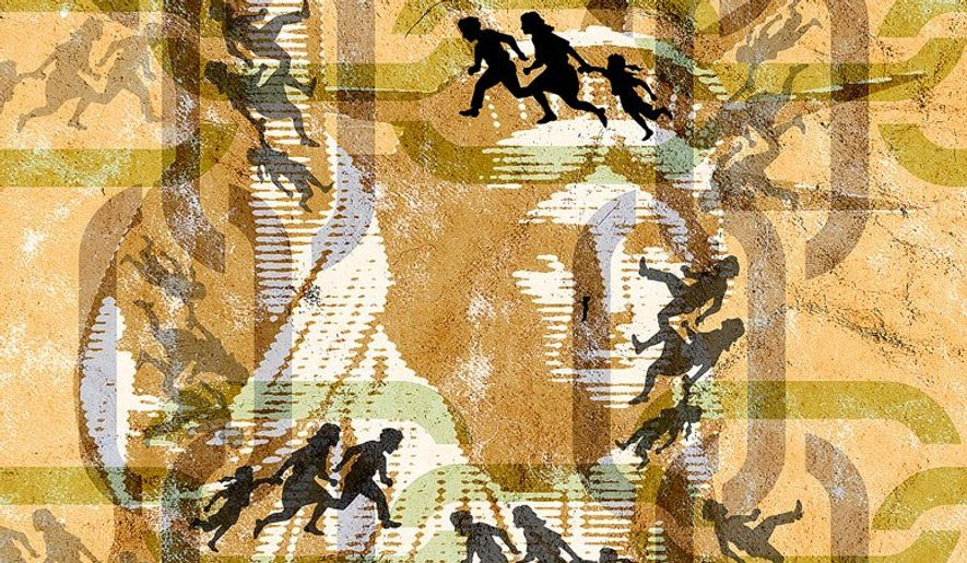 Chain Migration Illustration by Greg Groesch/The Washington Times