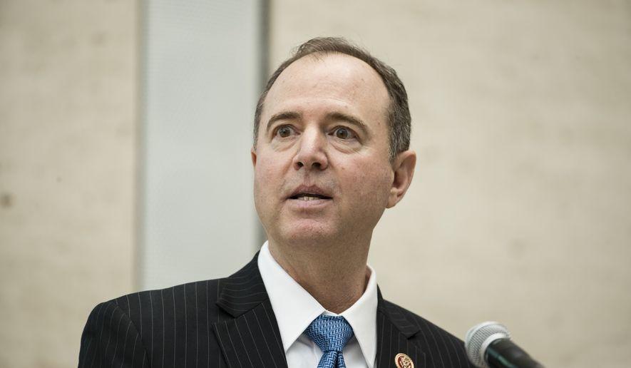 Rep. Adam Schiff, D-Calif., ranking member of the House Intelligence Committee, speaks at the University of Pennsylvania in Philadelphia, Thursday, Feb. 1, 2018. (AP Photo/Matt Rourke)