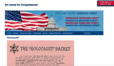 (Image: Screen grab of Arthur Jones' website)