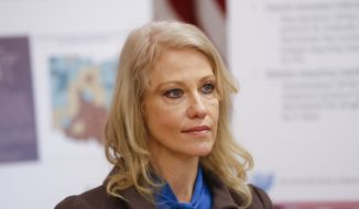 Kellyanne Conway last year appeared in two television interviews in which she promoted Republican candidate Roy Moore in the Alabama race for U.S. Senate. (Associated Press/File)