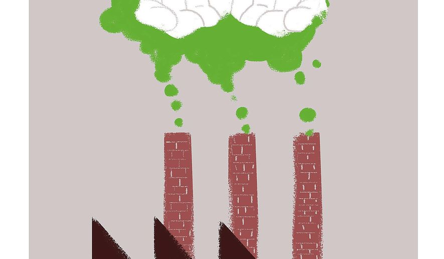 Illustration on how a carbon tax would adversely affect the poor by Linas Garsys/The Washington Times