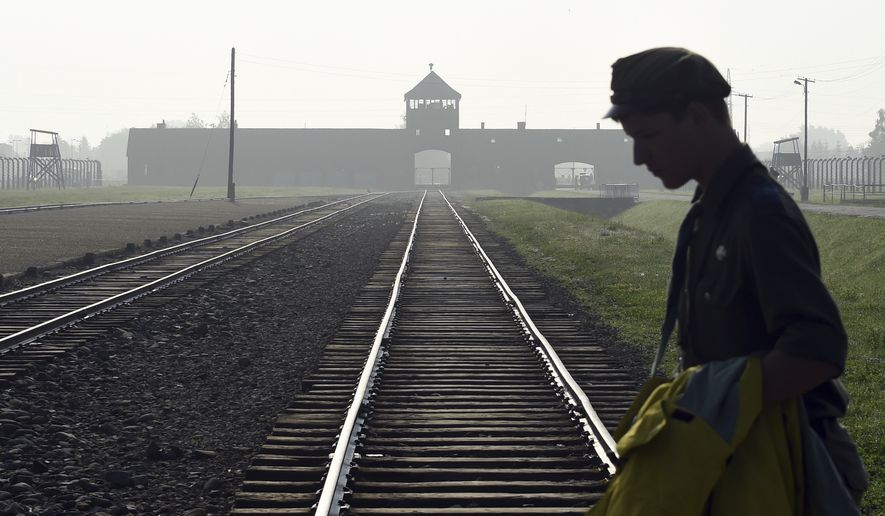Polish people are reflecting on and debating about their country's history with death camps such as Auschwitz-Birkenau, where an estimated 1.1 million people perished during World War II. (Associated Press/File)