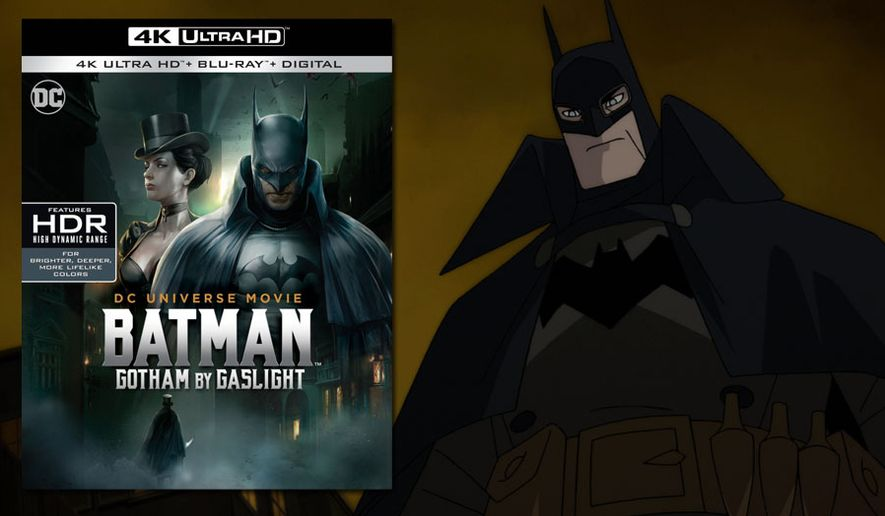 "The Caped Crusader battles Jack the Ripper in ""Batman: Gotham by Gaslight,"" now available on 4K Ultra HD from Warner Bros. Home Entertainment."