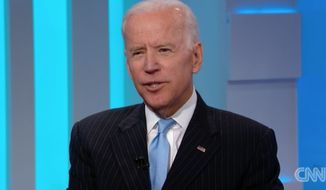 "Former Vice President Joe Biden called President Trump a ""joke"" during an interview with CNN's Chris Cuomo that aired Tuesday. (CNN)"
