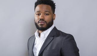 """In this Jan. 30, 2018 photo, filmmaker Ryan Coogler poses for a portrait at the """"Black Panther"""" press junket at the Montage Beverly Hills in Beverly Hills, Calif. (Photo by Willy Sanjuan/Invision/AP)"""