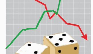 The Stock Market and the Trump Bump Illustration by Linas Garsys/The Washington Times