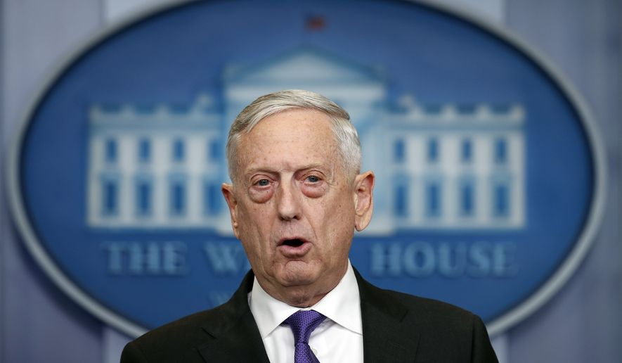 Defense Secretary Jim Mattis speaks during the daily press briefing at the White House, in Washington, Wednesday, Feb. 7, 2018. (AP Photo/Carolyn Kaster)
