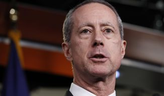Rep. Mac Thornberry, R-Texas, chairman of the Armed Services Committee, attends a news conference with House Speaker Paul Ryan of Wis., Thursday, Feb. 8, 2018, on Capitol Hill in Washington. (AP Photo/Jacquelyn Martin) **FILE**