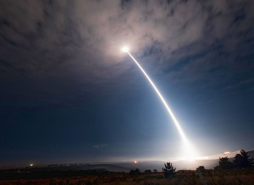 Depicted in this undated file photo is the launch of a Minuteman missile  **FILE**