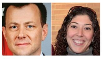 Peter Strzok and Lisa Page. ** FILE **