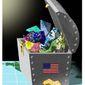 Illustration on America's mineral abundance by Alexander Hunter/The Washington Times