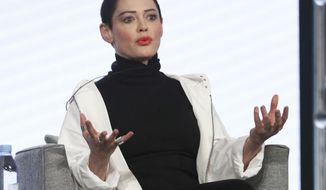 "FILE - In this Jan. 9, 2018 file photo, Rose McGowan participates in the ""Citizen Rose"" panel during the NBCUniversal Television Critics Association Winter Press Tour in Pasadena, Calif. McGowan has broken a days-long silence to express sympathy over the suicide of her former manager, whose family has criticized the actress and activist. In an Instagram post Saturday, Feb. 10, McGowan wrote that she hopes the family of Jill Messick can find some ""solace"" and blames her death on Harvey Weinstein. Messick killed herself last week, reportedly distraught after details emerged about alleged sexual misconduct by Weinstein.  (Photo by Willy Sanjuan/Invision/AP, File)"