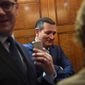 Sen. Ted Cruz has become public enemy No. 1 for the ethanol industry. He's held up federal nominees over his opposition to the national biofuels mandate. talks with a reporter as he gets on an elevator on Capitol Hill in Washington, Friday, Dec. 1, 2017. (AP Photo/Susan Walsh) (Associated Press)