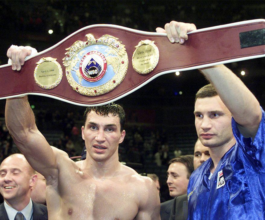 Heavyweight champs Wladimir Klitschko and his brother Vitali Klitschko. (AP Photo)