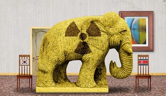 Elephant in the oom Illustration by Greg Groesch/The Washington Times