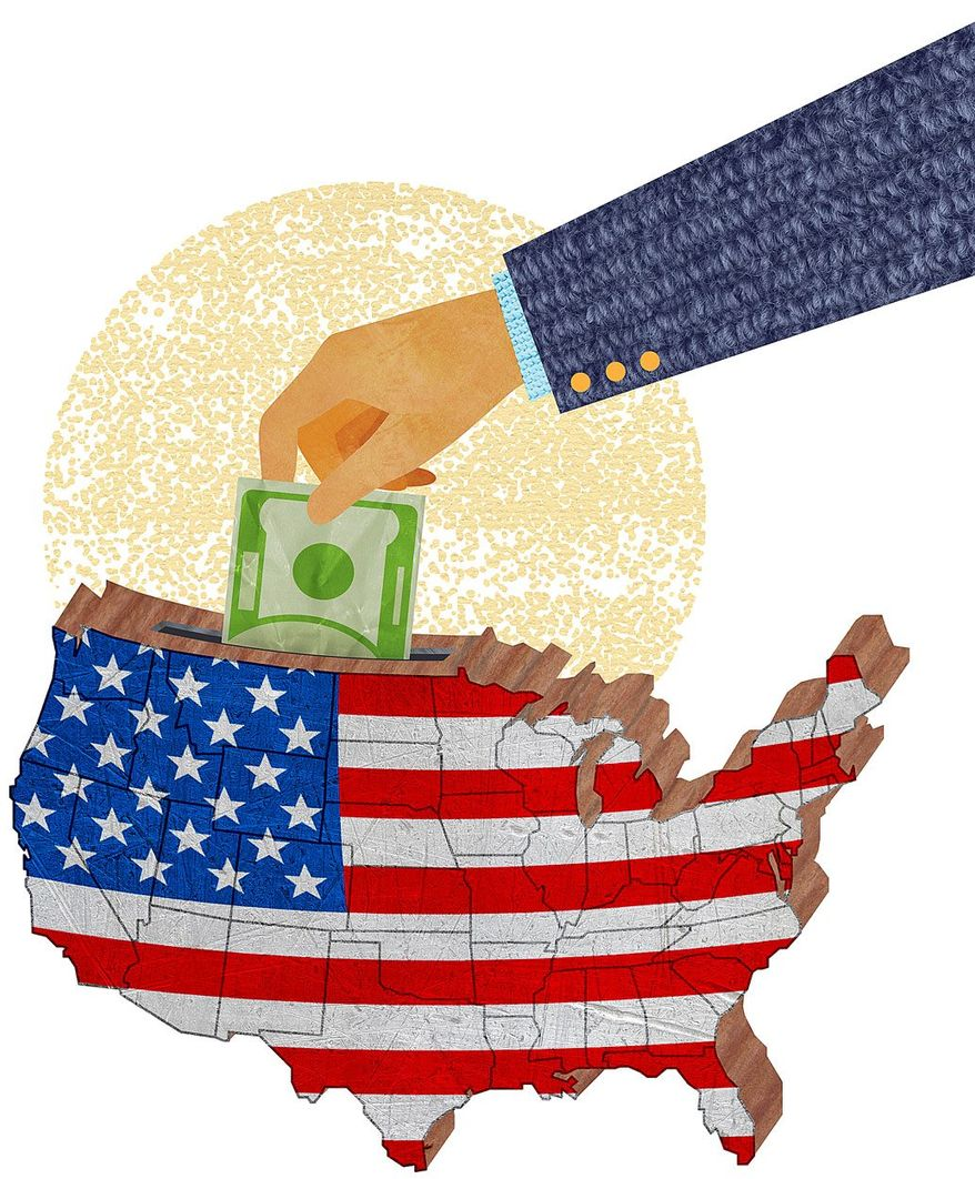 Migrant Investment Illustration by Greg Groesch/The Washington Times