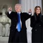 President Trump and first lady Melania Trump in front of the Lincoln Memorial, on Inauguration Day, which was just over a year ago. (Associated Press)