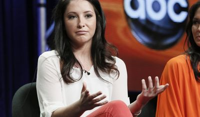 """Bristol Palin attends the """"Dancing with the Stars: All Stars"""" panel at the Disney ABC TCA Day 2 at the Beverly Hilton Hotel on Friday, July 27, 2012, in Beverly Hills, Calif. (Photo by Todd Williamson/Invision/AP)"""