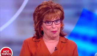 "Joy Behar of ""The View"" told her co-hosts on Feb. 13, 2018, that Vice President Mike Pence may have a ""mental illness"" if he says that Jesus Christ personally informs his decision making. (Image: YouTube, ""The View"" screenshot)"