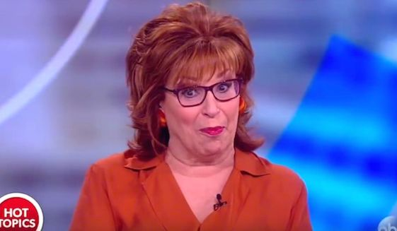 """Joy Behar of """"The View"""" told her co-hosts on Feb. 13, 2018, that Vice President Mike Pence may have a """"mental illness"""" if he says that Jesus Christ personally informs his decision making. (Image: YouTube, """"The View"""" screenshot) ** FILE **"""