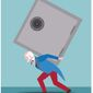 Illustration on the national debt by Linas Garsys/The Washington Times
