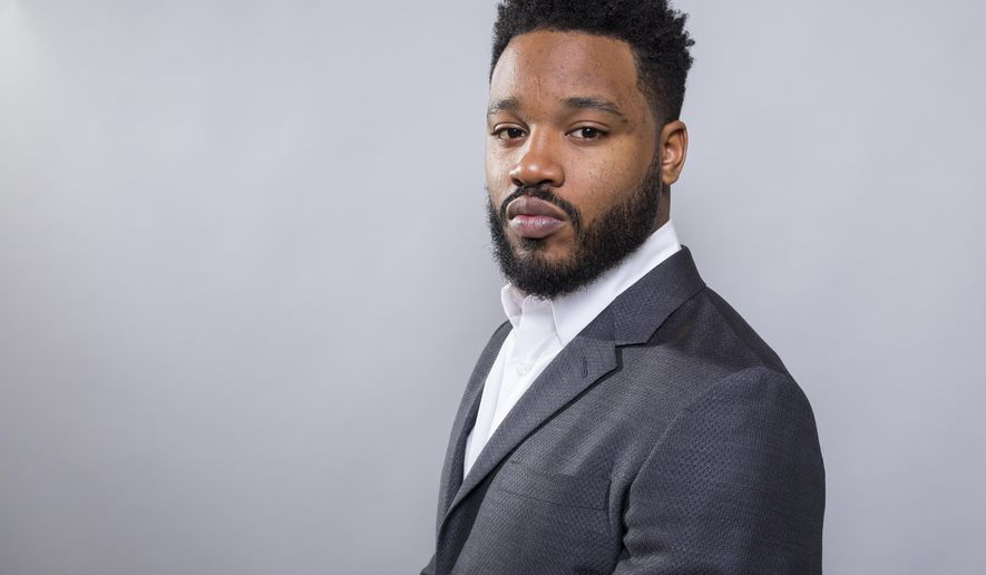 """In this Jan. 30, 2018 photo, filmmaker Ryan Coogler poses for a portrait at the """"Black Panther"""" press junket at the Montage Beverly Hills in Beverly Hills, Calif. The film opens nationwide on Friday, Feb. 16. (Photo by Willy Sanjuan/Invision/AP)"""
